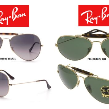 Cheap Ray-Ban Sunglasses RB3029 Outdoorsman II Havana Collection (Multiple Colors) outlet