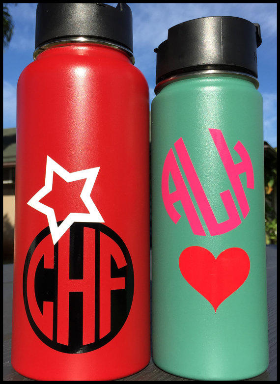monogram   icon decal personalized for from customhydroflasks on