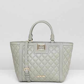 Love Moschino Quilted Tote Bag at asos.com