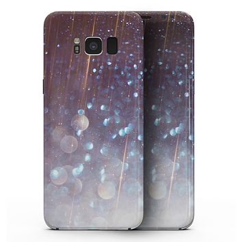 Radient Orbs of Blue with Streaks  - Samsung Galaxy S8 Full-Body Skin Kit