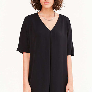 Silence + Noise Pleat-Front Cocoon Mini Dress - Urban Outfitters