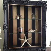 Antique Wood Gesso Shadow Box Frame Hand by ColorfulHomeDesigns