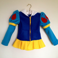 Disney Princess Inspired Snow White Fleece Girls hoodie shirt (Child sizes)