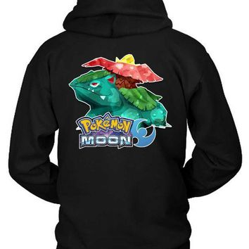 Pokemon Moon Grass Type Hoodie Two Sided