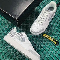 Nike Air Force 1 AF1 Low White/ Grey Fashion Sneakers