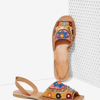 Vis-à-Vis Brock Beaded Leather Sandal