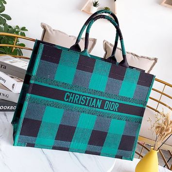 DIor fashion hot selling canvas color ladies casual portable shopping bag