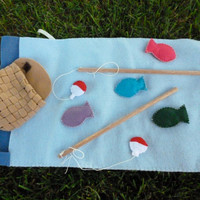 Felt Magnetic Fishing Game Kids Travel Toy