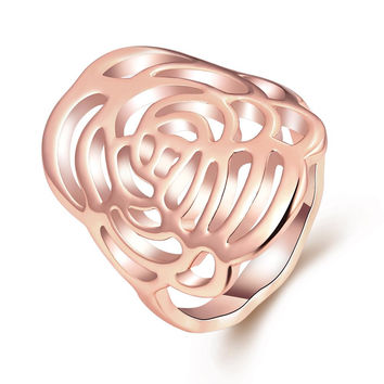 Rose Gold Plated Maze Ring