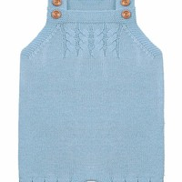 Blue Cable Knit Detail Baby Overall