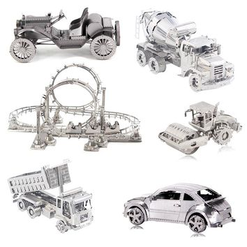Sports Car 3D Metal Puzzle DIY laser Cutting Jigsaw Puzzle Model Nano Puzzle Toys for Adult Gift Kids Education Toys