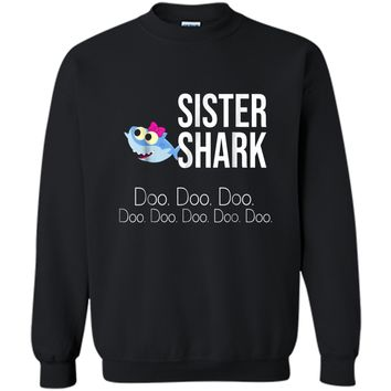 """""""Sister Shark"""" Baby Mommy Daddy Matching Family  Printed Crewneck Pullover Sweatshirt"""