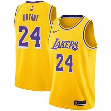 Los Angeles Lakers Swingman Gold Kobe Bryant #24 Jersey - Icon Edition - Youth