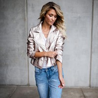 Heavy Metal Metallic Moto Jacket
