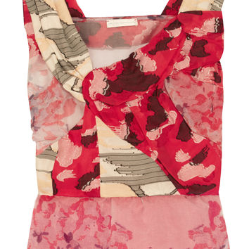 Michael van der Ham - Lily floral-print organza and fil coupé top