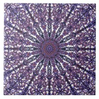 Romantic colored mandala ornament arabesque ceramic tile