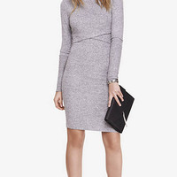 Gray Plush Jersey T-shirt Dress from EXPRESS