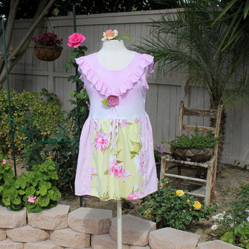 Eco Upcycled Babydoll Top | Women's Clothing | Comfortable Repurposed Clothes | Unique Top