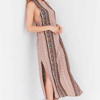 Ecote Stripe Print Maxi Dress