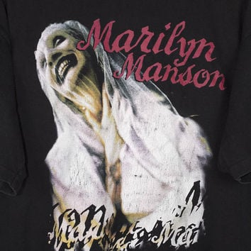 MARILYN MANSON sweet dreams shirt - vintage 90s - winterland - xl