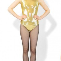 Metallic Gold Leotard | Sleeveless Metallic Leotard | Tank Top