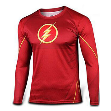 Marvel Super Heroes Avengers Men Compression Armour Base Layer Long Sleeve Thermal Under Top Fitness