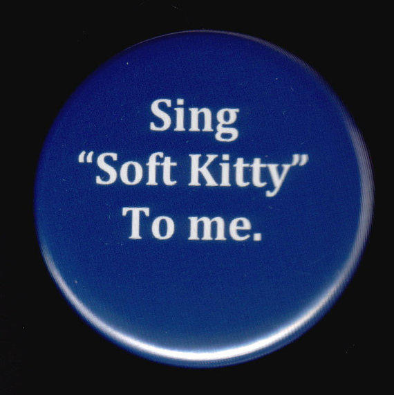 Big Bang Theory and the Soft Kitty Song Button