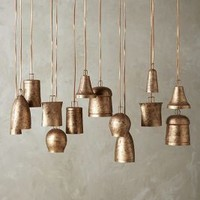 Campanology Chandelier, Fourteen-Light by Anthropologie in Gold Size: One Size Lighting