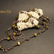 """Handcrafted Wire Wrapped Cat's Eye 26"""" Necklace"""