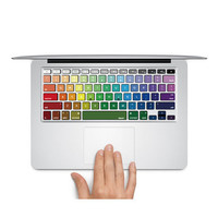 "Rainbow keyboard decal mac pro decals mac pro stickers macbook decals stickers Apple Mac Decal keyboard decals keyboard sticker13"" 15"" 17"""