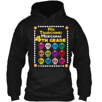Day of the Dead Sugar Skull  for Kids 4th Grade School Pullover Hoodie 8 oz