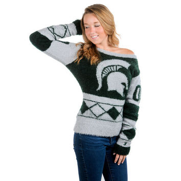 Michigan State Spartans Official NCAA Women's Eyelash Sweater