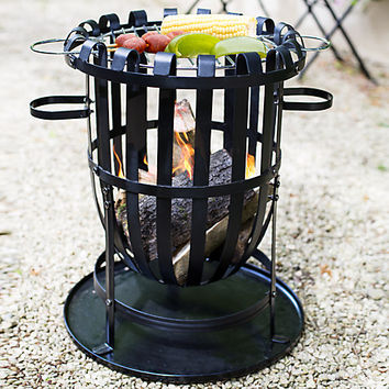 Buy La Hacienda Traditional Fire Basket With Grill | John Lewis