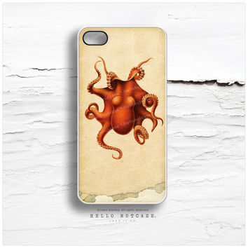 iPhone 6 Case, iPhone 5C Case Octopus, TOUGH iPhone 5s Case Vintage, Sea Life iPhone 4s Case, Vintage iPhone Case, Squid iPhone Cover V10