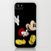 DISNEY MICKEY MOUSE: DARK MICKEY iPhone & iPod Case by Marco Lilliu