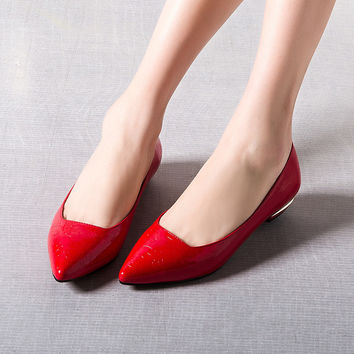 Summer Pointed Toe Stylish Shiny Elegant Fashion Shoes [4919959684]