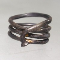 $55.00 Bike Spoke Ring (Made from a real recycled bicycle spoke) by VagabondMetal