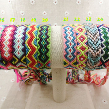 Handmade Hippy Boho Embroidery Cotton Friendship Bracelet Love Charm Woven Rope String Friendship Bracelets For friendship bracelets