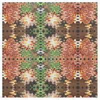 Brown Green Poof Abstract Fabric