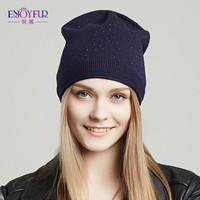 Women new hats for Spring and Autumn street style fashion keep warm wool caps with diamond 2017 new female beanies