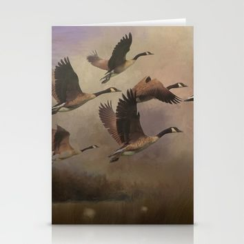 Wild Geese at Dawn Stationery Cards by Theresa Campbell D'August Art