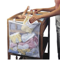 Baby Nursery Cot Bed Diaper Hanging Multi Funtion Storage Bag Closet Holder Basket
