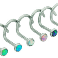 Choose 2 Fire Opal Nose Screw Studs