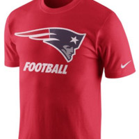 NFL New England Patriots Red Cotton T-Shirt