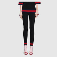 Gucci Stretch viscose legging with Web