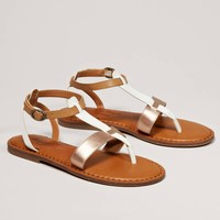 AEO Colorblock T-Strap Sandal   American Eagle Outfitters