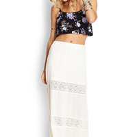 Crochet-Trimmed Maxi Skirt