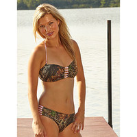 Wilderness Dreams Pink and Camo Strap Hipster Bikini Bottoms