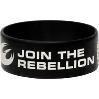 Star Wars Men's Rebels Free Rubber Bracelet Black