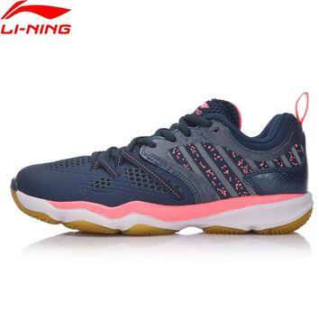 Li-Ning Women Ranger Daily Badminton Shoes Stability TPU Support Sneakers Skid-Resistance LiNing Sports Shoes AYTM074 XYY062